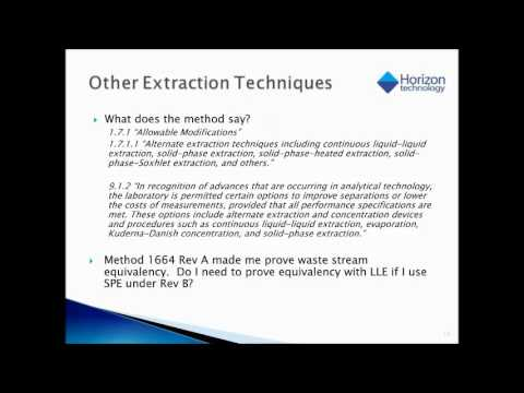 Best Practices in Oil & Grease Analysis (EPA 1664B/SM 5520B)