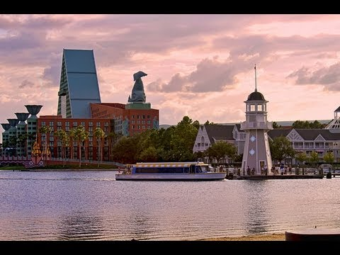 Walt Disney World Walkway around Crescent Lake (Boardwalk, Yacht and Beach Club) HD