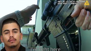 도주하는 살인용의자 총격 사살