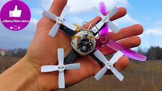 ✔ Q-Carbon85 - Гоночный FPV Нано Квадрокоптер на БК моторах! Бешеная муха! )