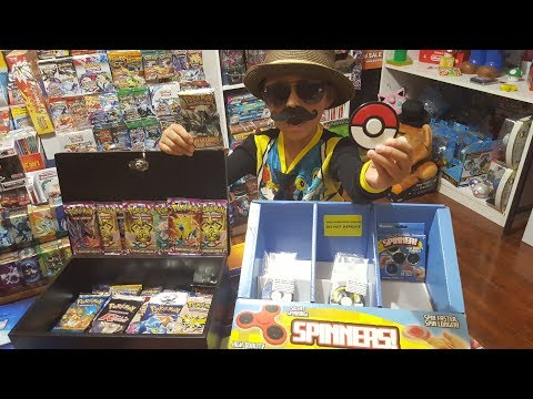 CARLS COLLECTIBLES SELLS POKEMON FIDGET SPINNERS NOW! Opening Booster Packs & Vintage Pack! SILVER!!