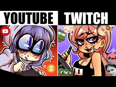 YOUTUBE ARTISTS V.S. TWITCH ARTISTS [Youtube Artist Tries Twitch For A Week]