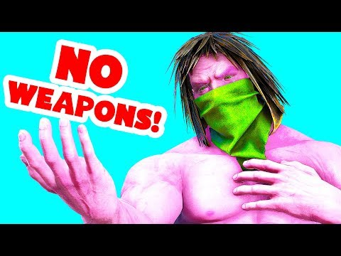 RAIDING BASES WITH NO WEAPONS! STEALING LOOT! (Ark Survival Evolved Trolling)