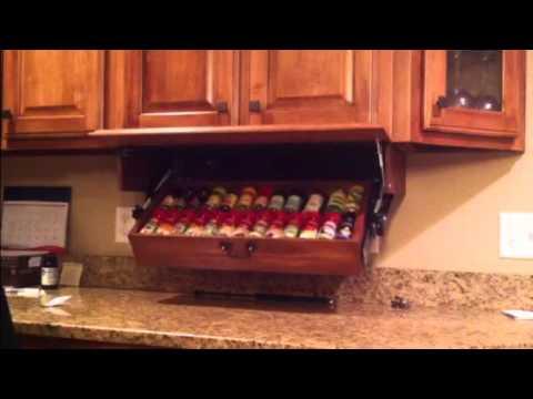 Drop Down Spice Rack doug123ddgmailcom  YouTube