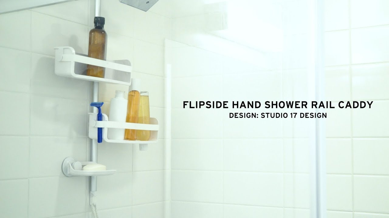 FLIPSIDE Hand Shower Rail Caddy | UMBRA - YouTube