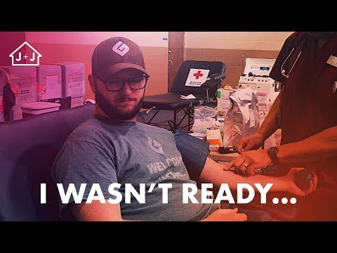 First Time Giving Blood... || VEDA Day 1 ||Jeff and Jessica Vlogs