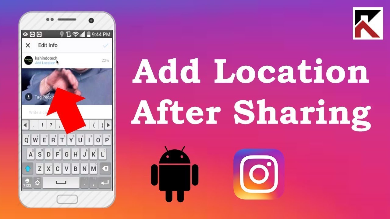how to add location to instagram post