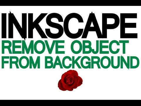 Inkscape tutorial how to remove a traced object from it for Removethebackground com