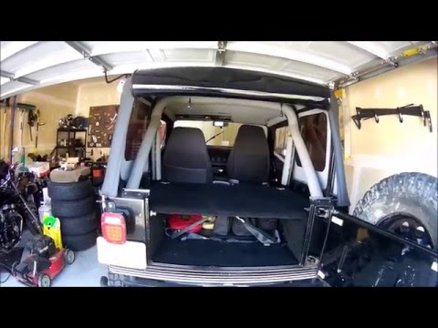 jeep wrangler yj secure rear storage build Jeep Storage Box Plans