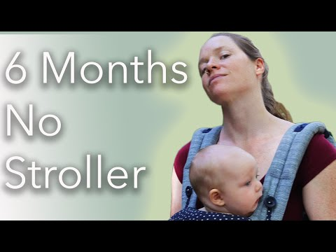 Our Baby Wearing || No Stroller, 6 Months Old
