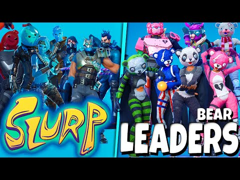 Fortnite ALL 7! SLURP Skins Vs Leaders Team, Dance/Emote Battle Show
