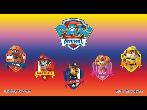 PAW PATROL - Finger Family - Daddy Finger - Nursery Rhyme with Lyrics - Karaoke
