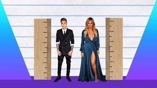 How Much Taller? - Justin Bieber vs Khloe Kardashian!