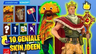 10 GENIALE Skins That SHOULD COME, Community Ideas | Fortnite Top 10 Ranking English