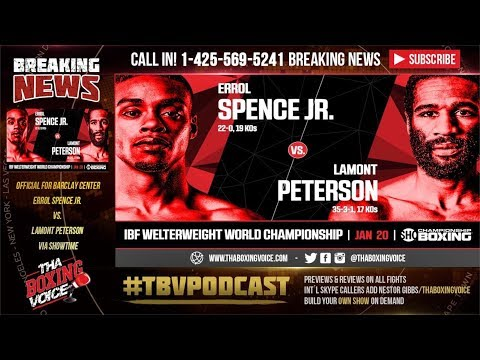 Errol Spence Jr. vs Lamont Peterson OFFICIAL at BARCLAY CENTER on Showtime