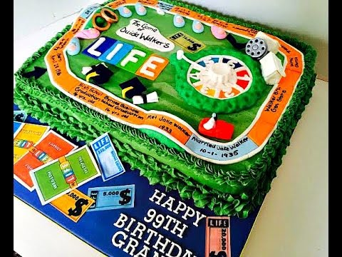 Making A Game Of Life Cake YouTube