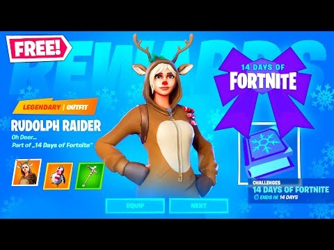14 Days Of Fortnite | Chapter 2 Christmas Event - Challenges & Rewards (2019)