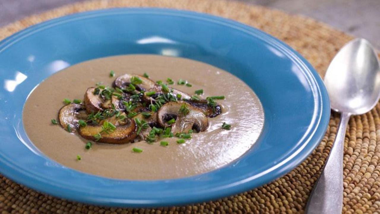No Cream Creamy Wild Mushroom Soup Youtube