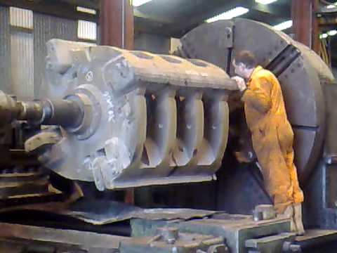 biggest lathe on you tube? heavy engineering