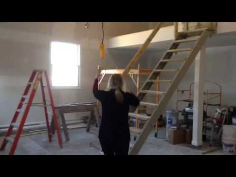 Retractable Garage Stairs Youtube