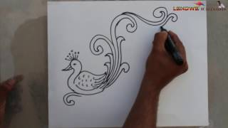 How To Draw FREE HAND DESIGN DRAWING