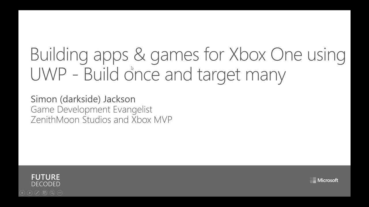 Gamasutra: Simon Jackson's Blog - Building apps & games for Xbox One