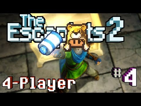 The Escapists 2: 4-Player - H.M.P. Offshore #4 - The Quest for Talcum (4-Player Gameplay)
