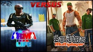 Arma 3 Altis Life VS GTA SAMP РП (Сравнение)