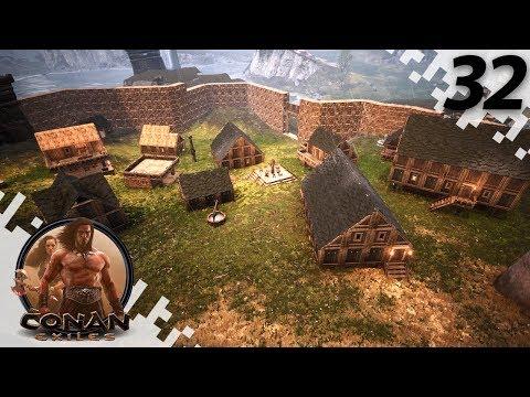 CONAN EXILES: THE FROZEN NORTH - Town Growing! - EP32