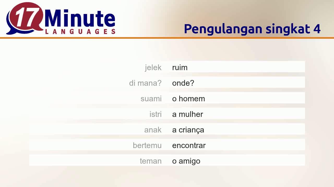 Belajar Bahasa Portugis