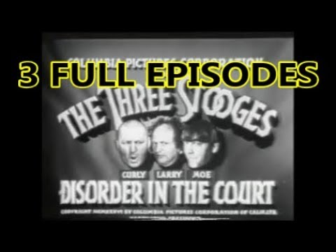 3 Full Episodes of the Three Stooges, Moe, Larry, Curly, Shemp