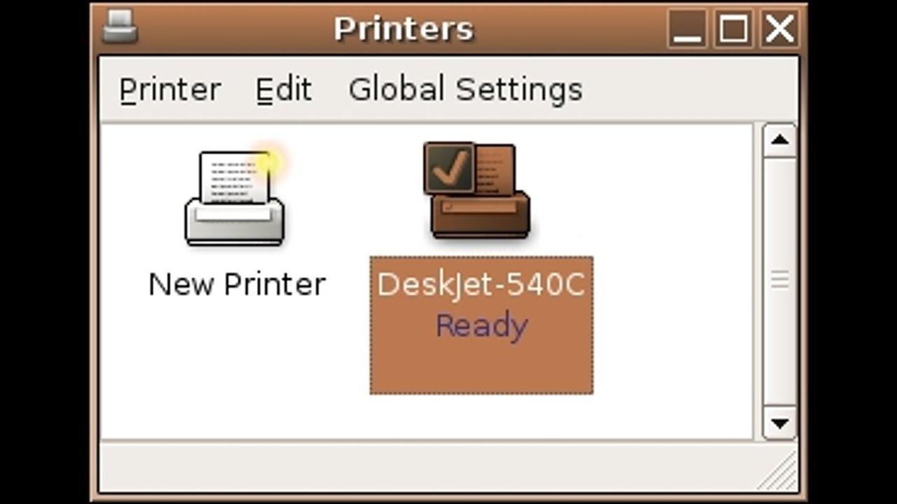 Cài đặt máy in trong Ubuntu