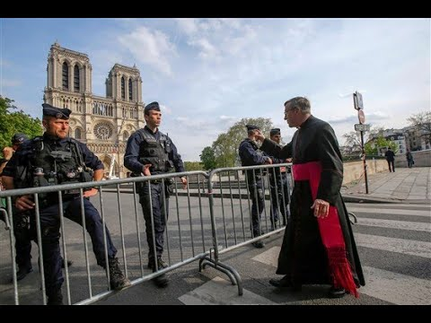 Good Friday Way of the Cross Procession by Notre-Dame in Paris