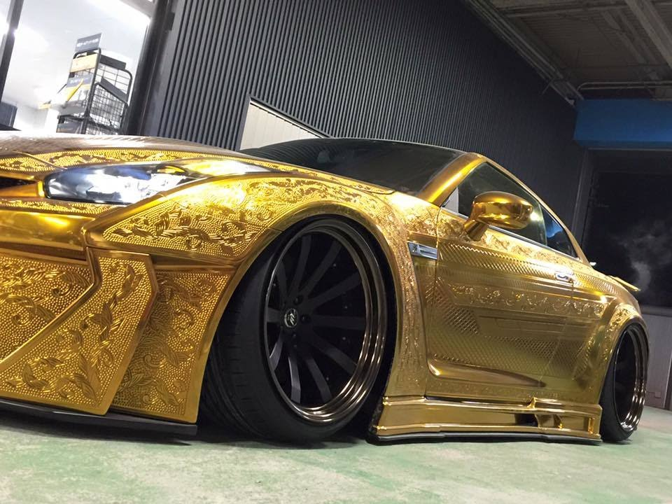 Gold Plated Precisely Engraved Nissan Gt R By Kuhl Racing