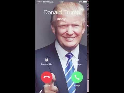 Donald Trump calling you