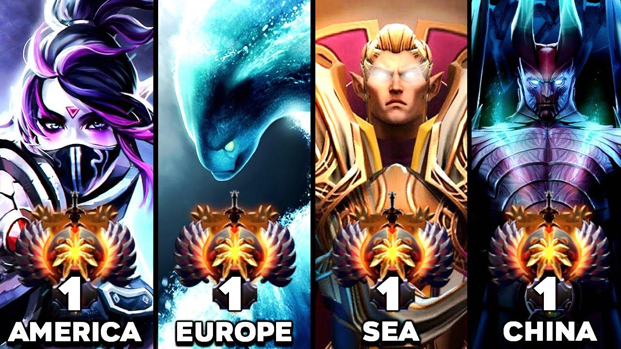 TOP 1 MMR Rank of all regions - BEST Players in Dota 2