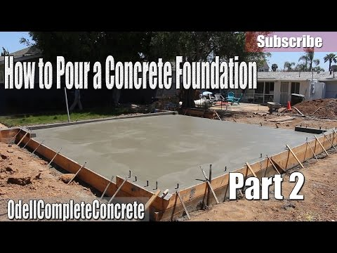 How to Pour a Concrete Foundation For Garages, Houses, Room Editions, Etc Part 2