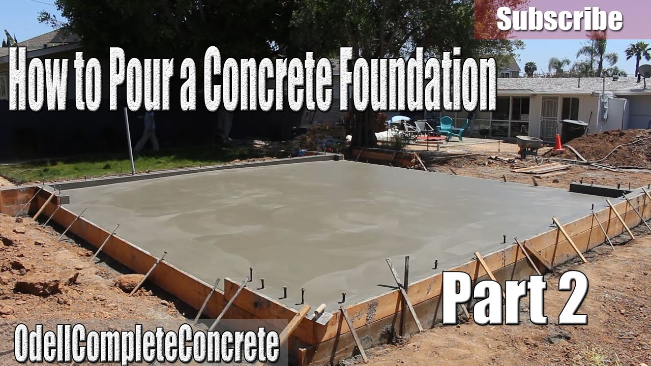 How to pour a concrete foundation for garages houses room editions how to pour a concrete foundation for garages houses room editions etc part 2 solutioingenieria Choice Image