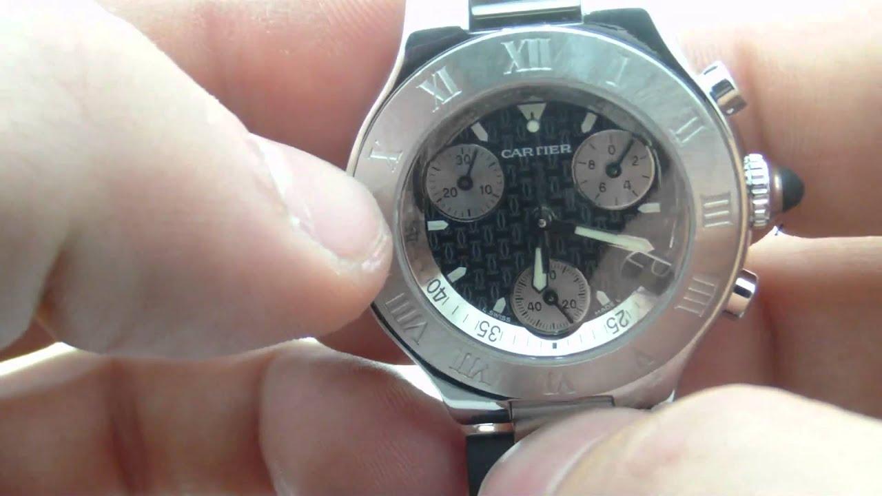 67186bc80ac Cartier W10125U2 21 Chronoscaph - YouTube