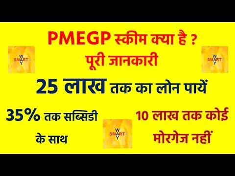 25 लाख तक का लोन  पायें | 35% की सब्सिडी के साथ | PMEGP Scheme In Hindi | Subsidy Loan In Hindi