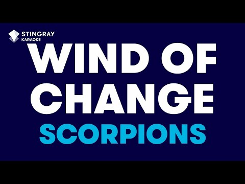 "Wind Of Change in the Style of ""Scorpions"" karaoke video with lyrics (no lead vocal)"