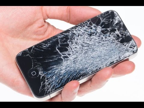how to stop glass coming out of cracked phone screen