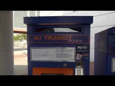 NJ Transit Ticket Vending Machine at Hamilton Rail Station