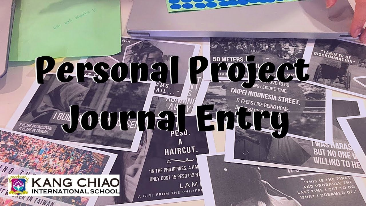 how to create personal project journal entry on managebac youtube