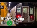 ⁴ᴷ R142As leaving the 6 Line