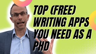 Best Free Writing Apps For Academics, Writers, & Grad Students/PhDs - Writing Software Applications
