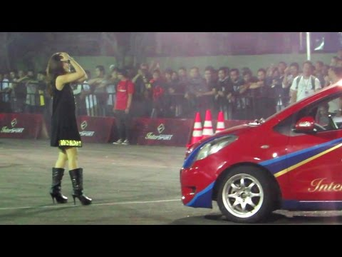 Aksi Gymkhana Indonesia, Mobil Drift, Alinka Hardianti, Amandio, Reza Ss (InterSPORT Passion Race)