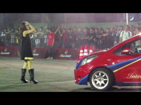 Aksi Gymkhana Indonesia, Mobil Drift, Alinka Hardianti, Amandio, Reza ss (InterSPORT Passion Race)