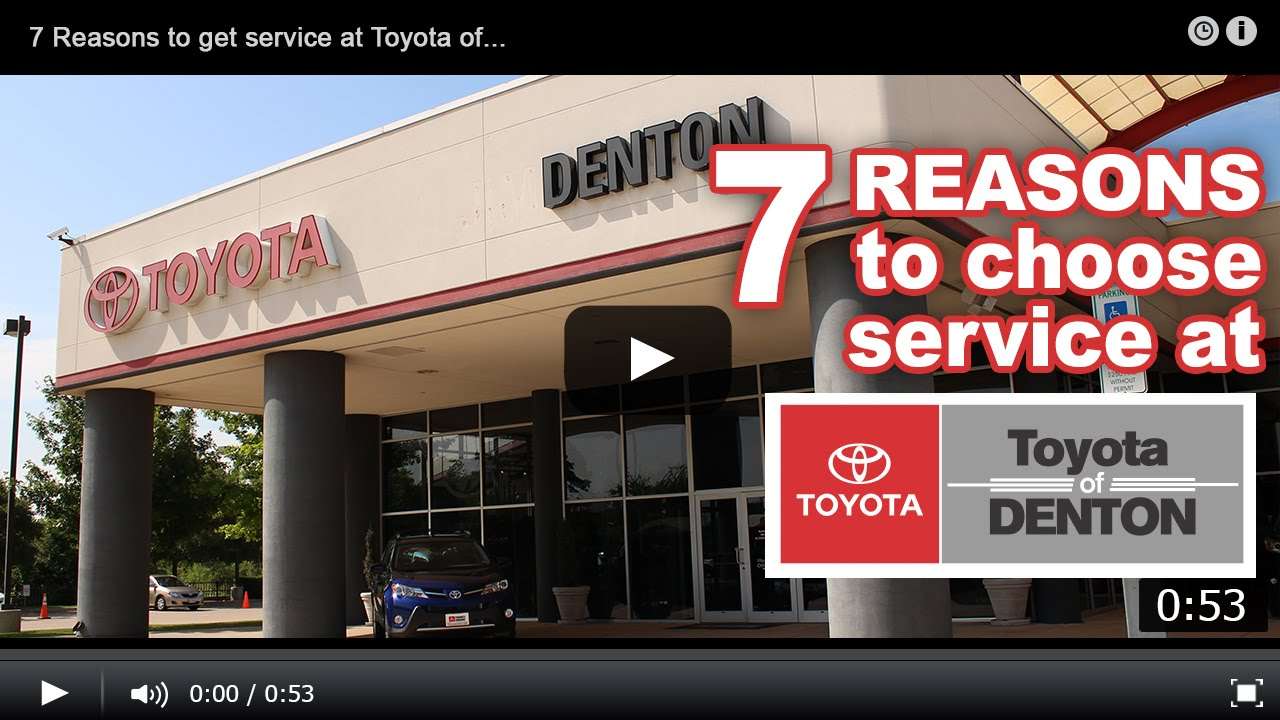 Why Service At Toyota Of Denton Youtube