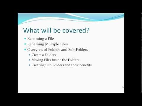How to Work With Files and Folders | Windows 7 Tutorial